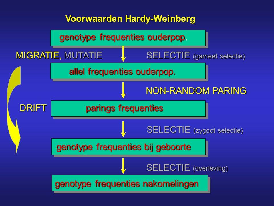 Voorwaarden Hardy-Weinberg
