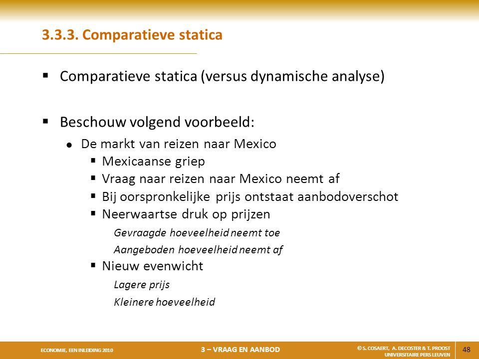 Comparatieve statica (versus dynamische analyse)