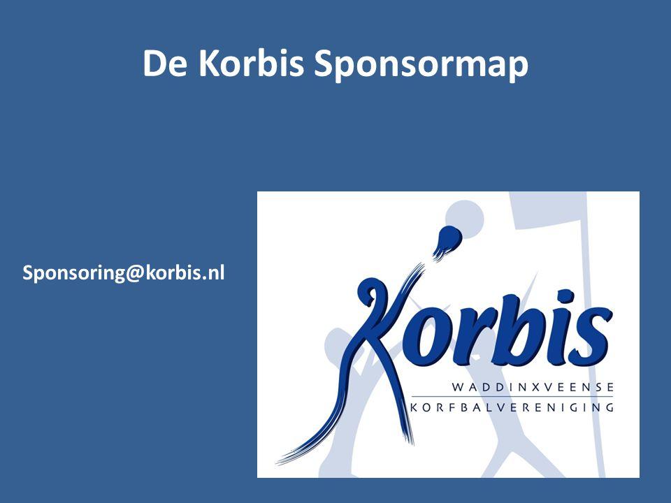 De Korbis Sponsormap Sponsoring@korbis.nl