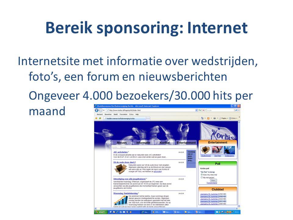 Bereik sponsoring: Internet