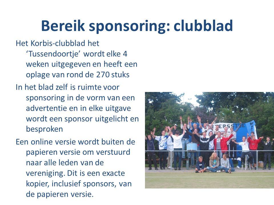 Bereik sponsoring: clubblad