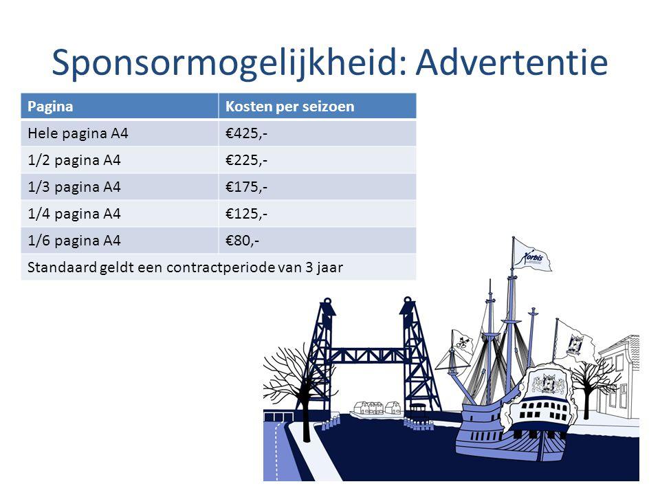 Sponsormogelijkheid: Advertentie