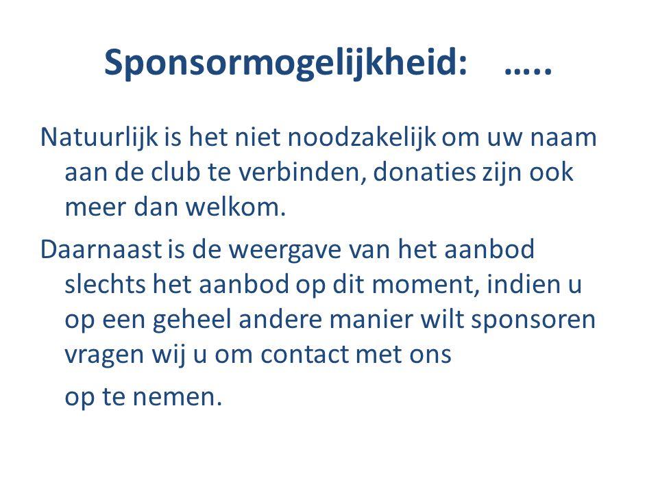 Sponsormogelijkheid: …..
