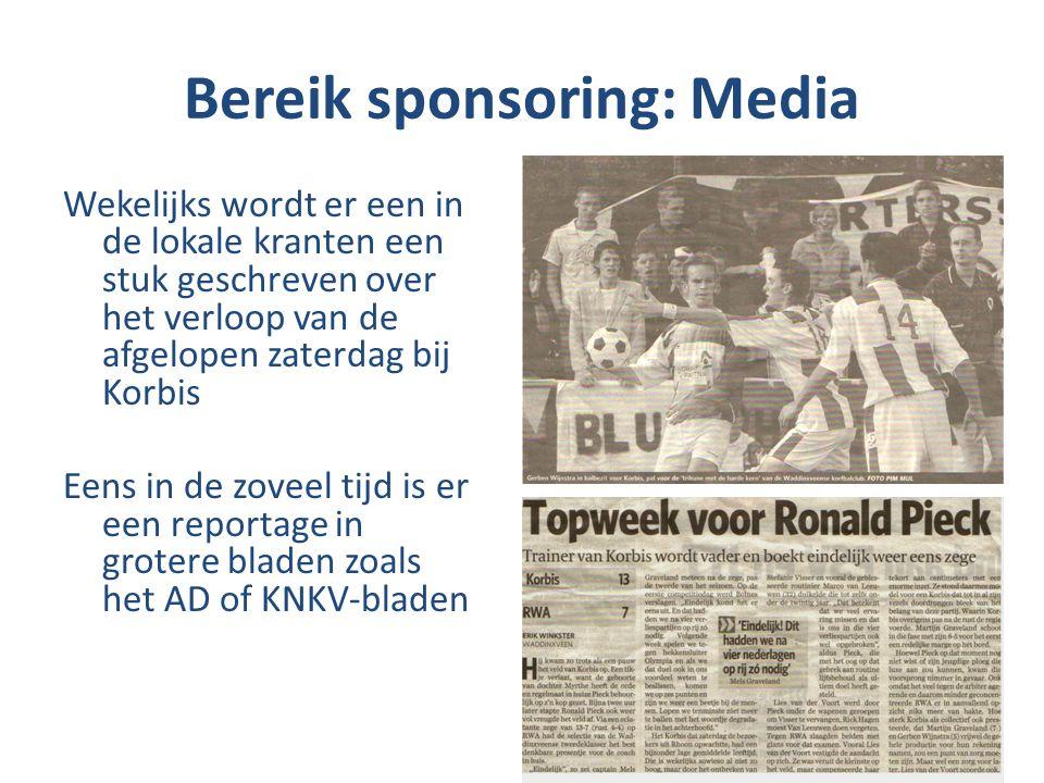 Bereik sponsoring: Media