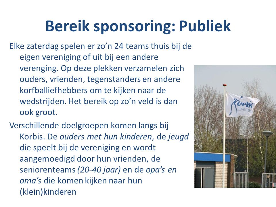Bereik sponsoring: Publiek