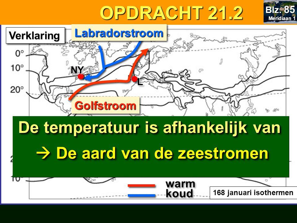 OPDRACHT 21.2 De temperatuur is afhankelijk van