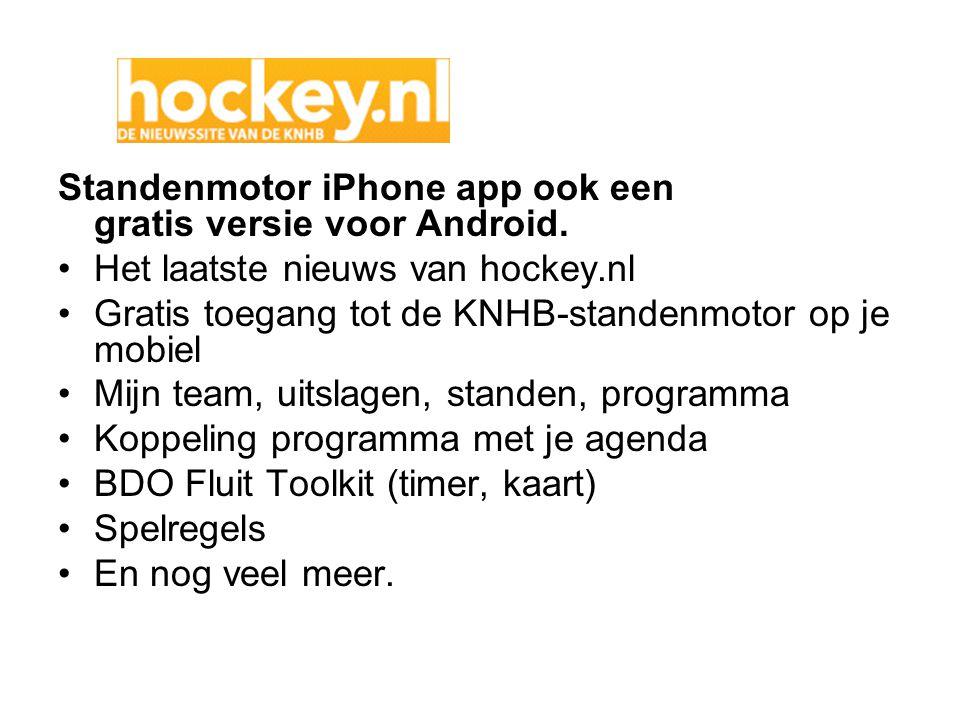 Standenmotor iPhone app ook een gratis versie voor Android.