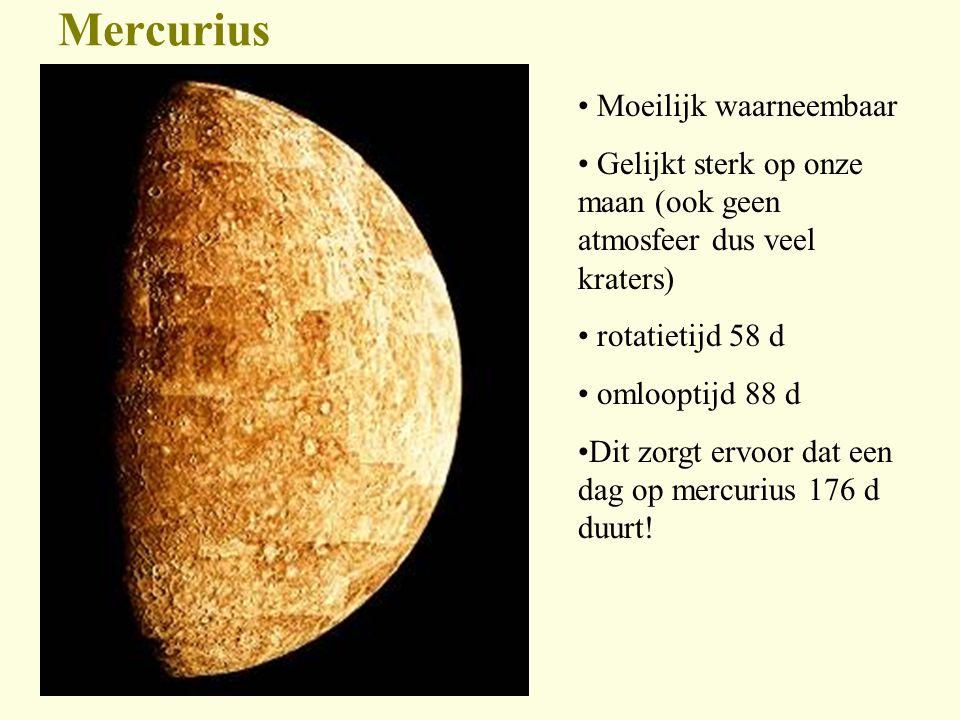 Mercurius Moeilijk waarneembaar