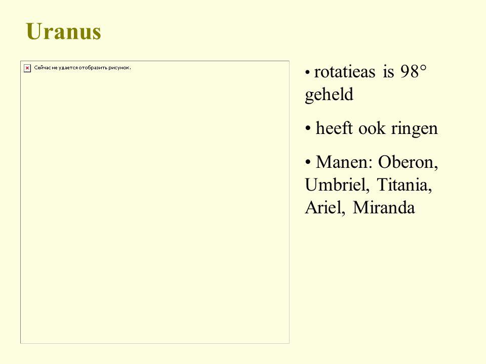 Uranus heeft ook ringen