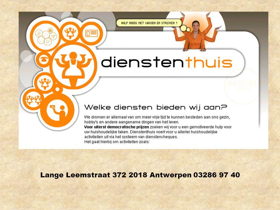 Lange Leemstraat 372 2018 Antwerpen 03286 97 40