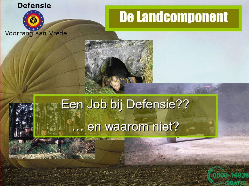 De Landcomponent Een Job bij Defensie … en waarom niet