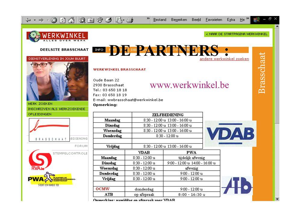 DE PARTNERS : www.werkwinkel.be
