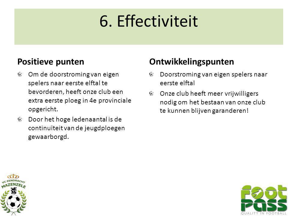 6. Effectiviteit Positieve punten Ontwikkelingspunten
