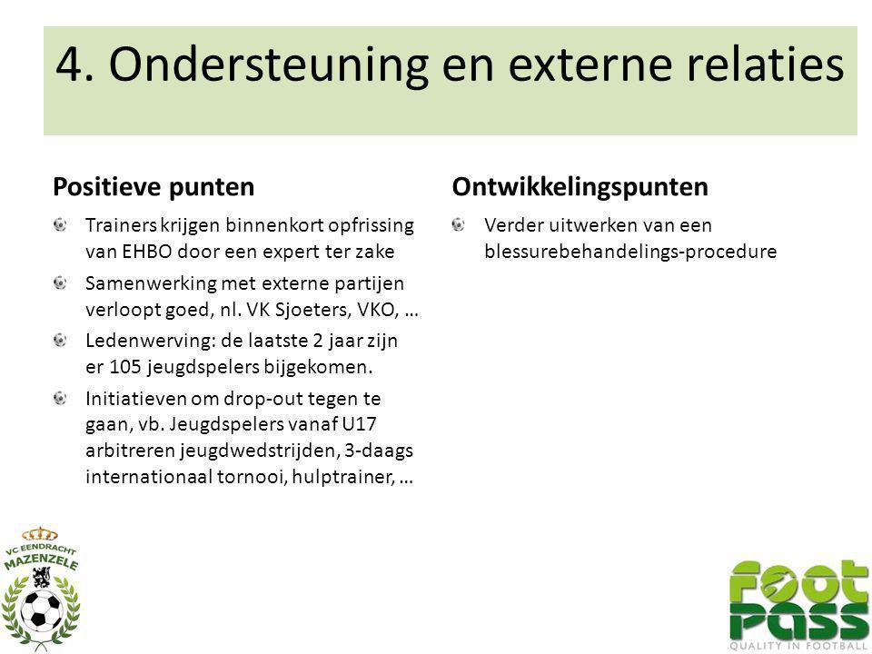4. Ondersteuning en externe relaties