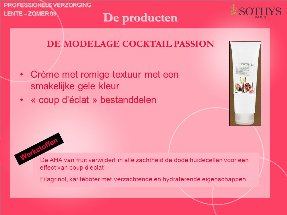 DE MODELAGE COCKTAIL PASSION