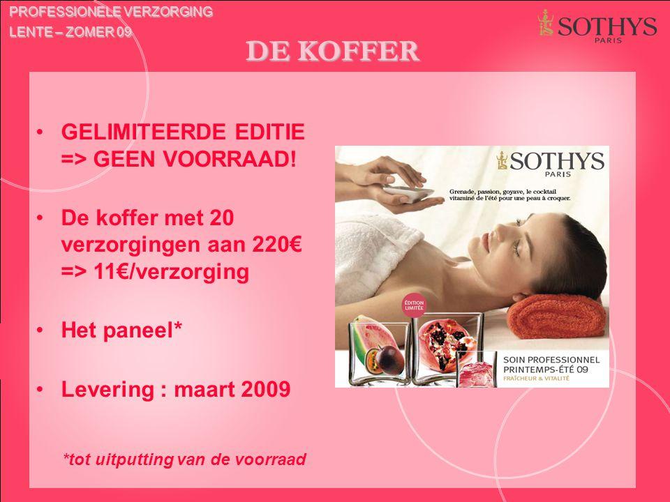 DE KOFFER GELIMITEERDE EDITIE => GEEN VOORRAAD!