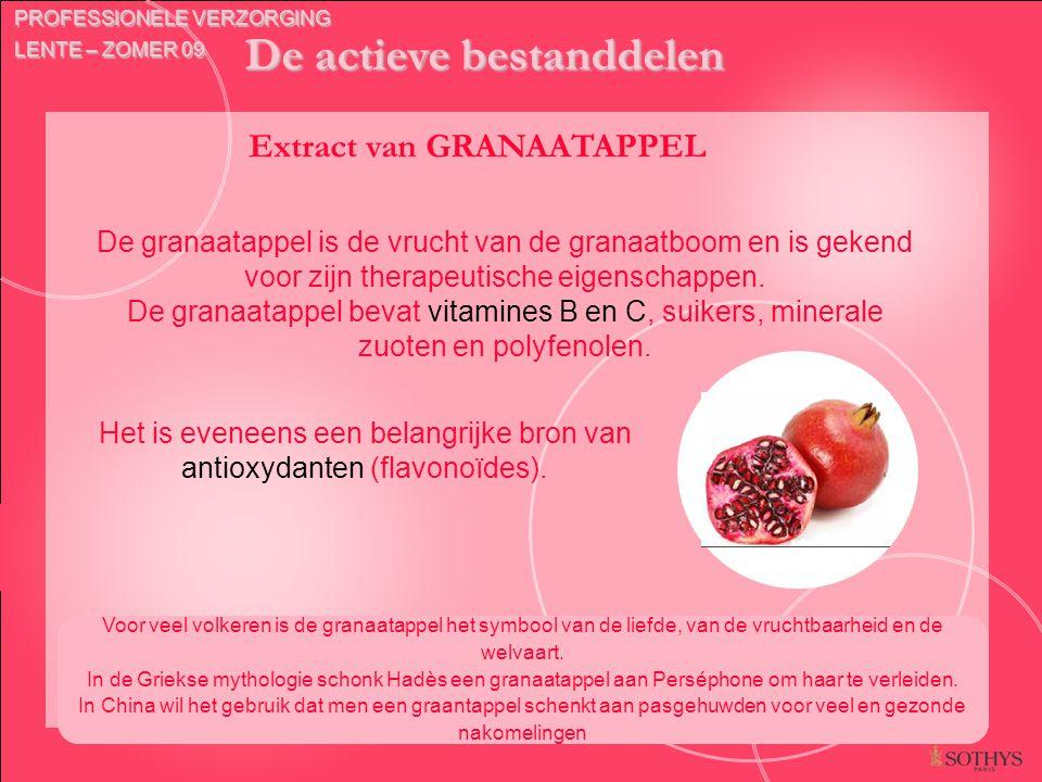 De actieve bestanddelen Extract van GRANAATAPPEL