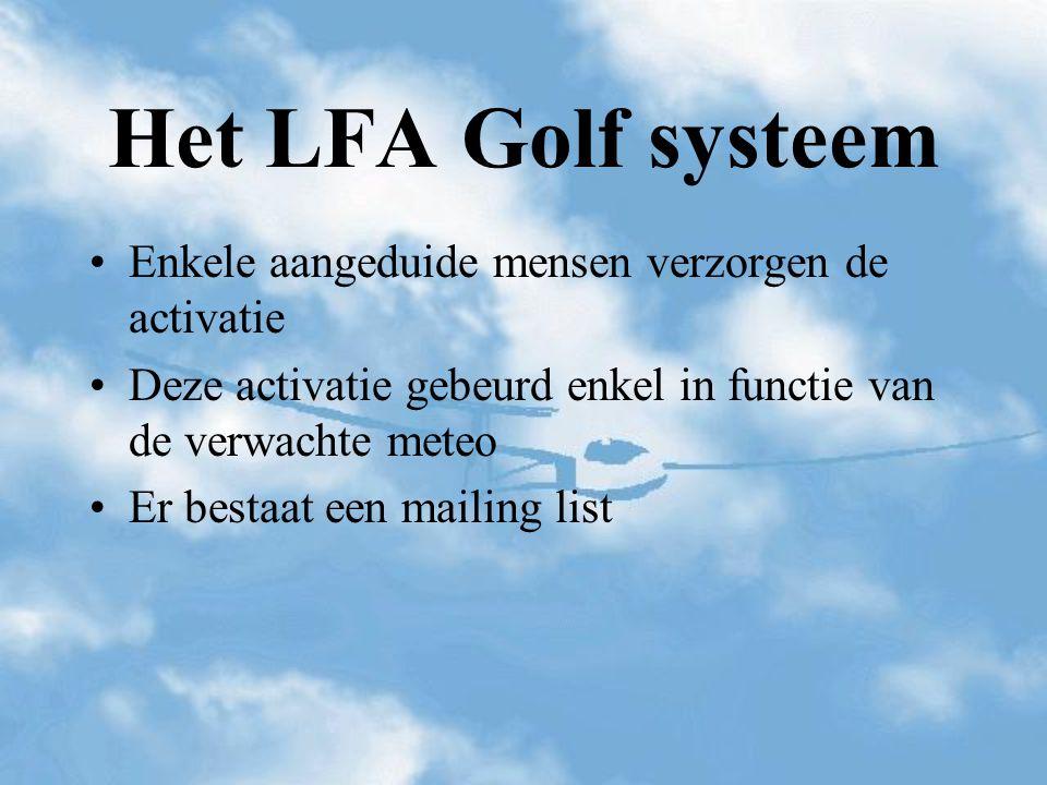 Het LFA Golf systeem Enkele aangeduide mensen verzorgen de activatie