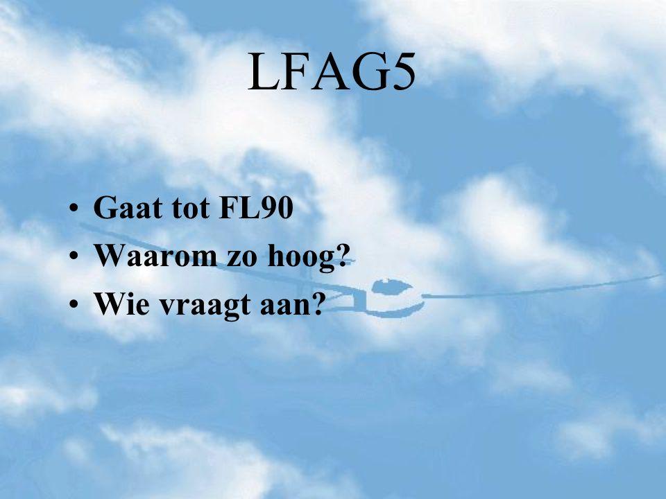 LFAG5 Gaat tot FL90 Waarom zo hoog Wie vraagt aan