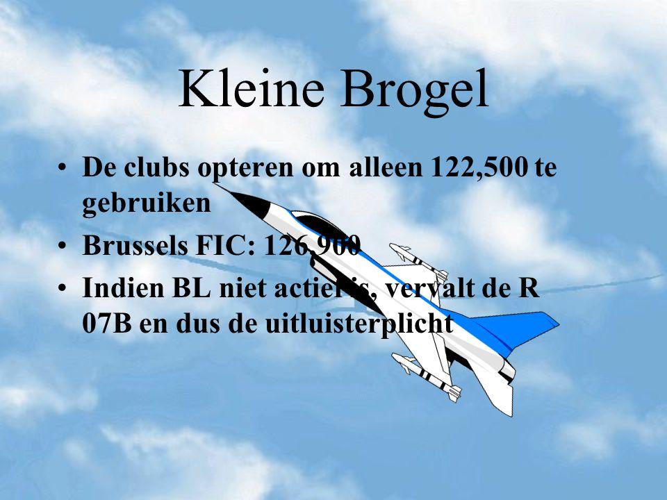 Kleine Brogel De clubs opteren om alleen 122,500 te gebruiken