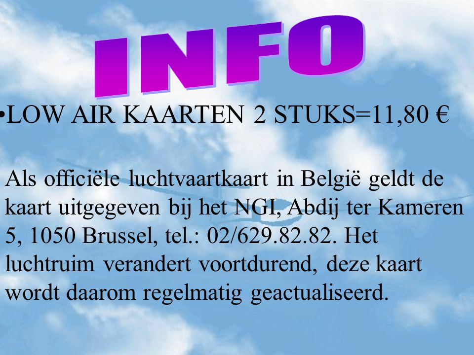 LOW AIR KAARTEN 2 STUKS=11,80 €
