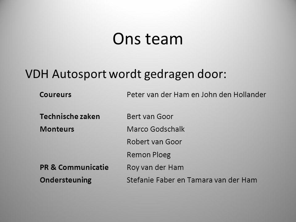 Ons team VDH Autosport wordt gedragen door: