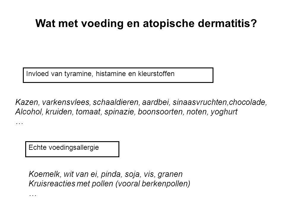 Wat met voeding en atopische dermatitis