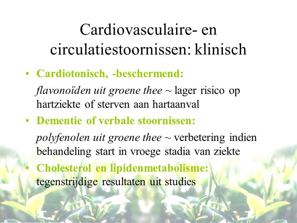 Cardiovasculaire- en circulatiestoornissen: klinisch
