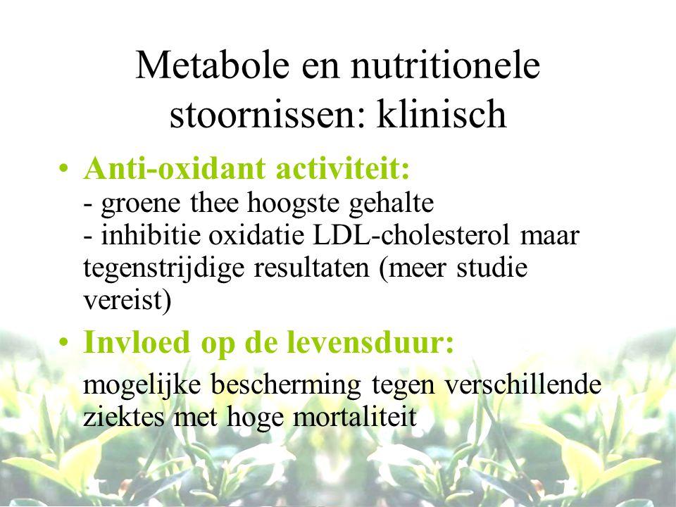 Metabole en nutritionele stoornissen: klinisch