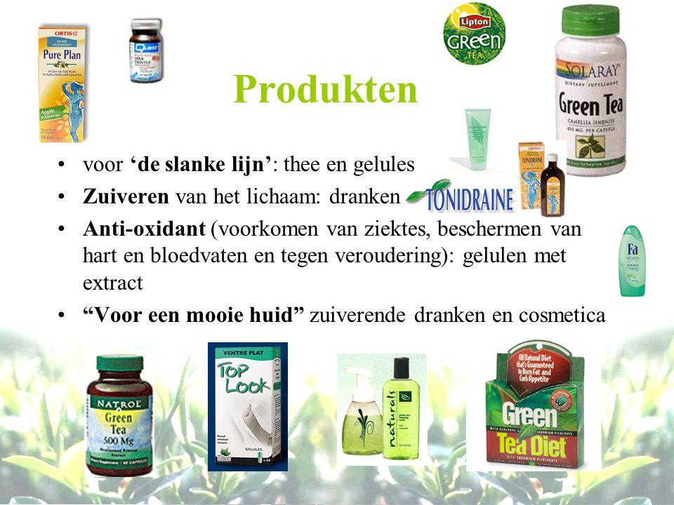 Produkten voor 'de slanke lijn': thee en gelules