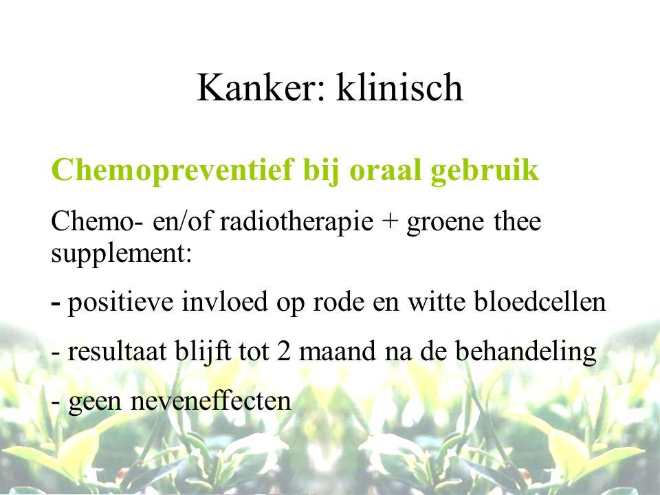 Kanker: klinisch Chemopreventief bij oraal gebruik