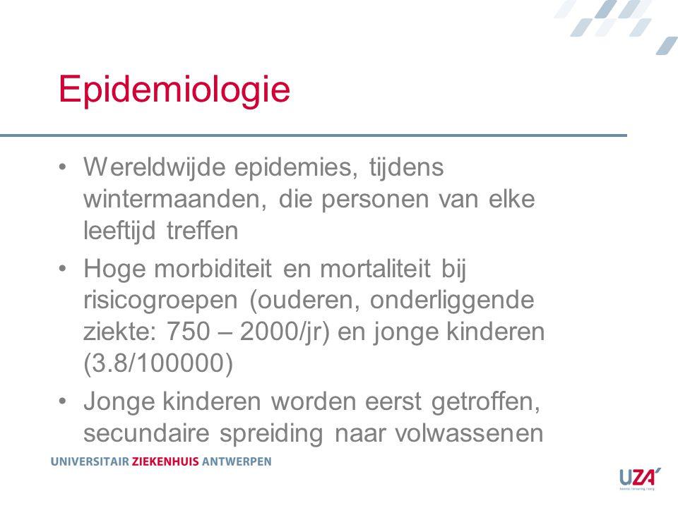Epidemiologie Wereldwijde epidemies, tijdens wintermaanden, die personen van elke leeftijd treffen.