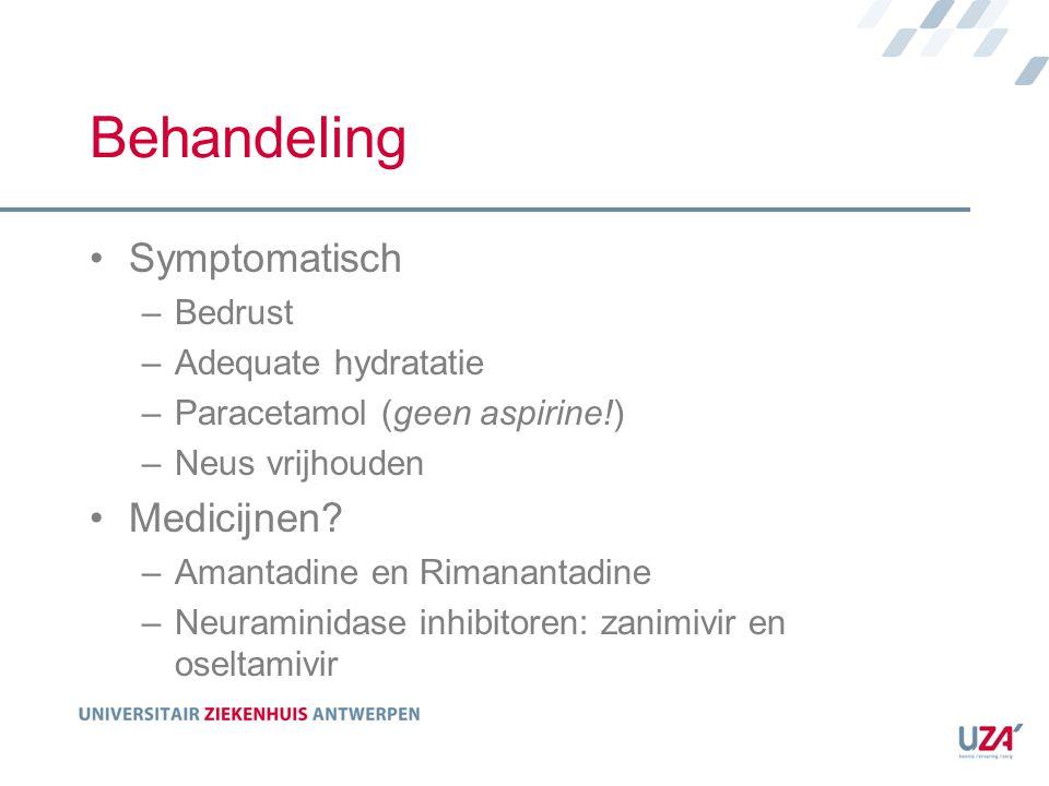Behandeling Symptomatisch Medicijnen Bedrust Adequate hydratatie