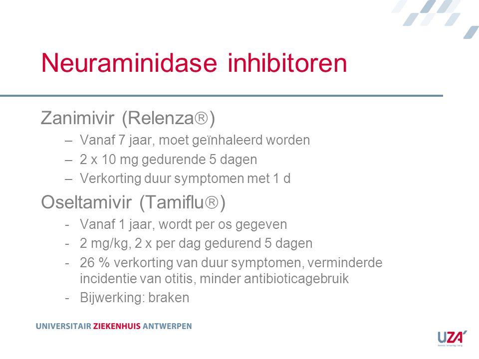 Neuraminidase inhibitoren