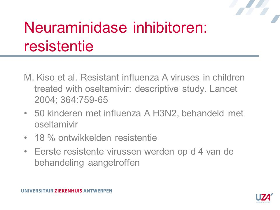Neuraminidase inhibitoren: resistentie