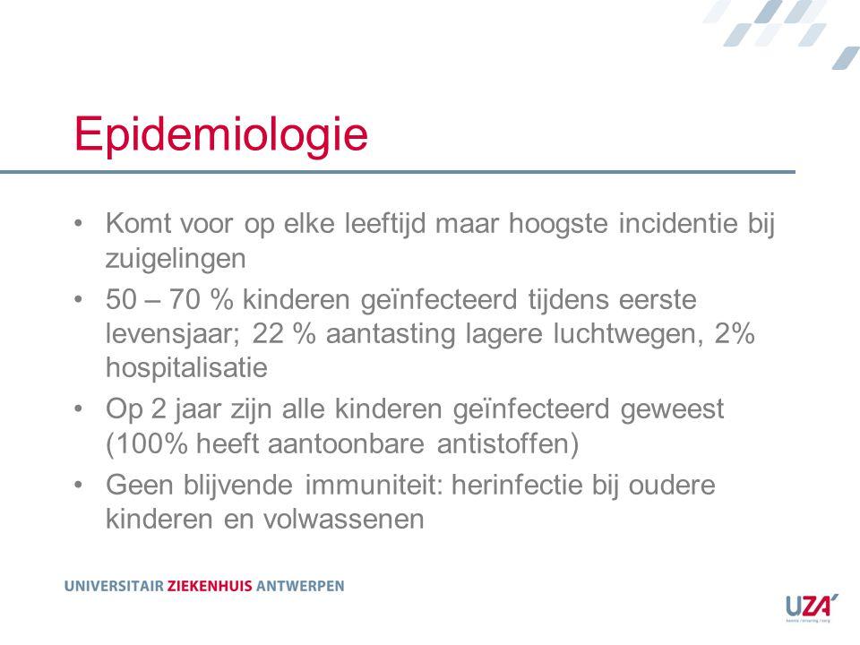 Epidemiologie Komt voor op elke leeftijd maar hoogste incidentie bij zuigelingen.