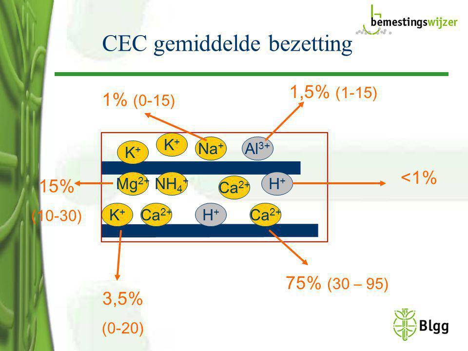 CEC gemiddelde bezetting
