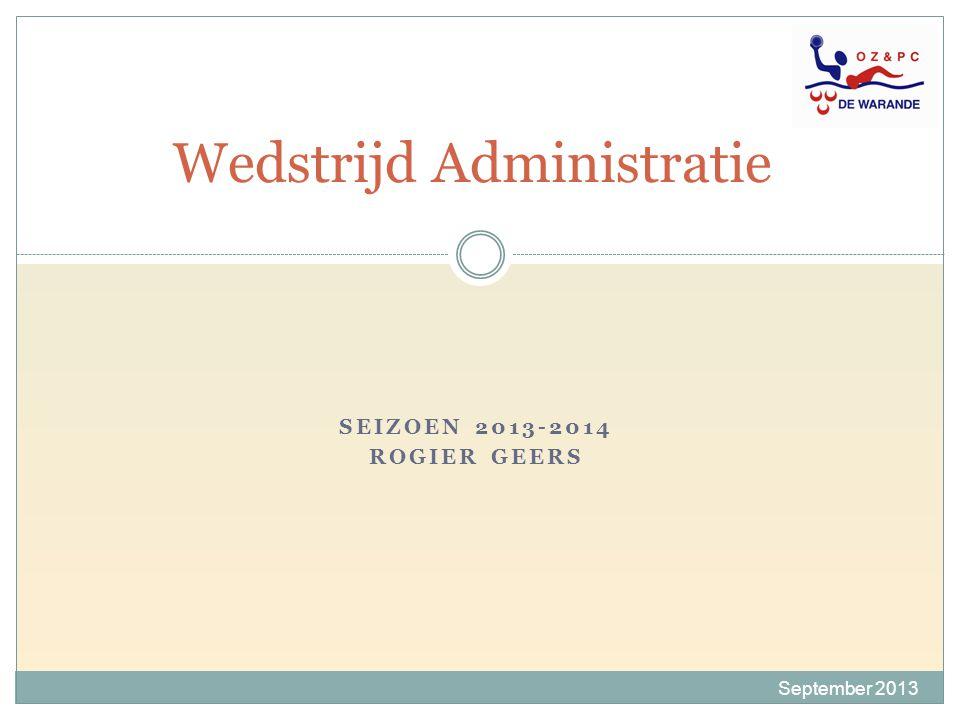 Wedstrijd Administratie