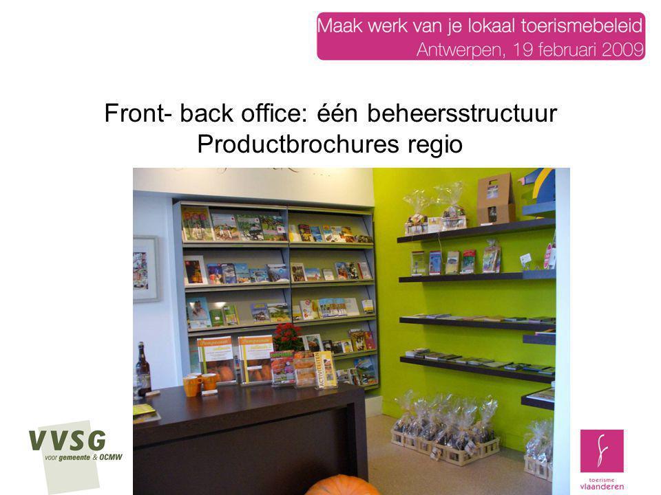 Front- back office: één beheersstructuur Productbrochures regio