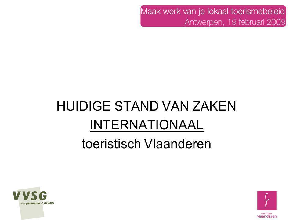 HUIDIGE STAND VAN ZAKEN INTERNATIONAAL toeristisch Vlaanderen