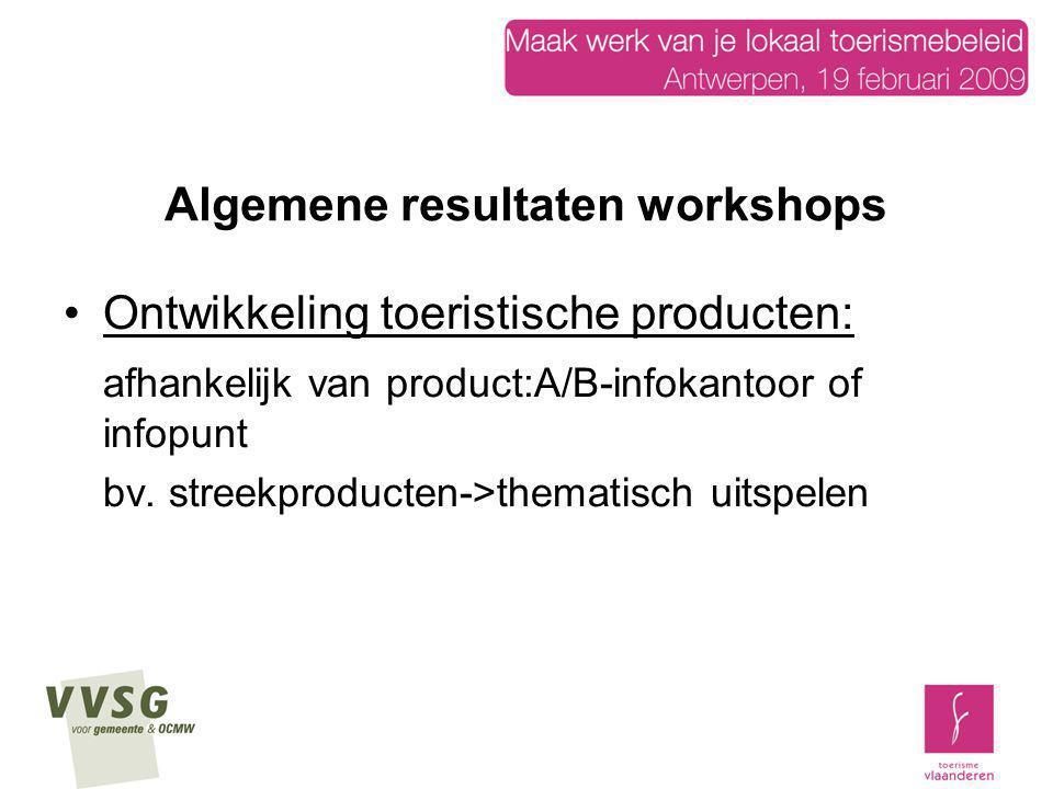 Algemene resultaten workshops