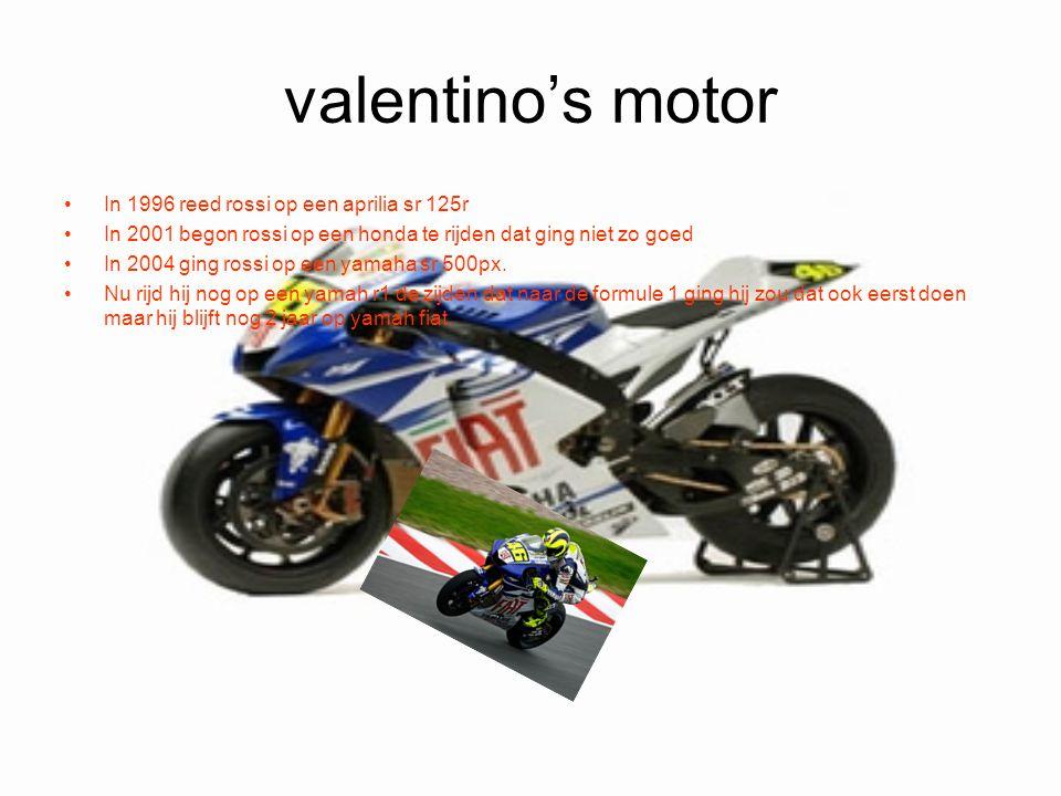 valentino's motor In 1996 reed rossi op een aprilia sr 125r