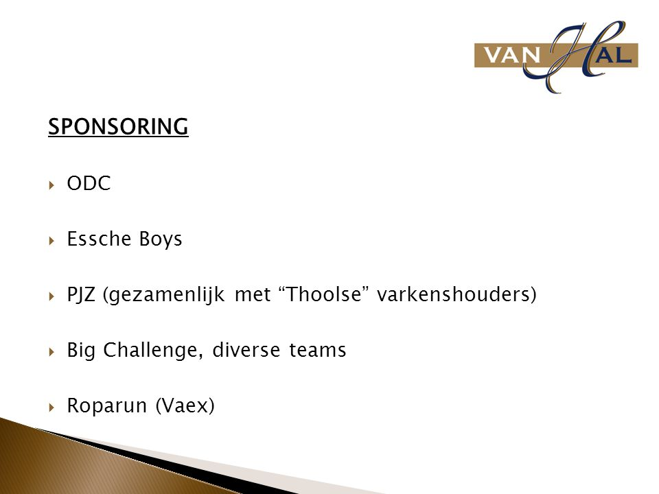 SPONSORING ODC Essche Boys