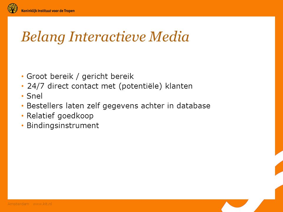 Belang Interactieve Media
