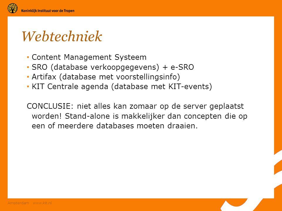 Webtechniek Content Management Systeem
