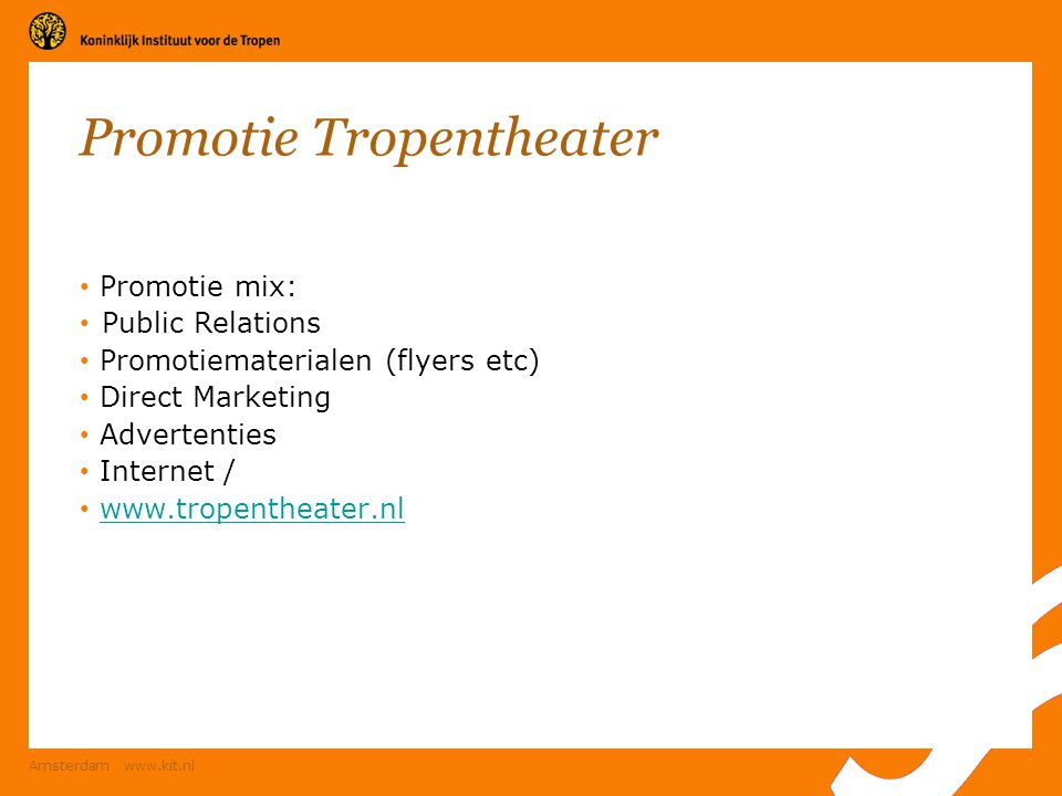 Promotie Tropentheater