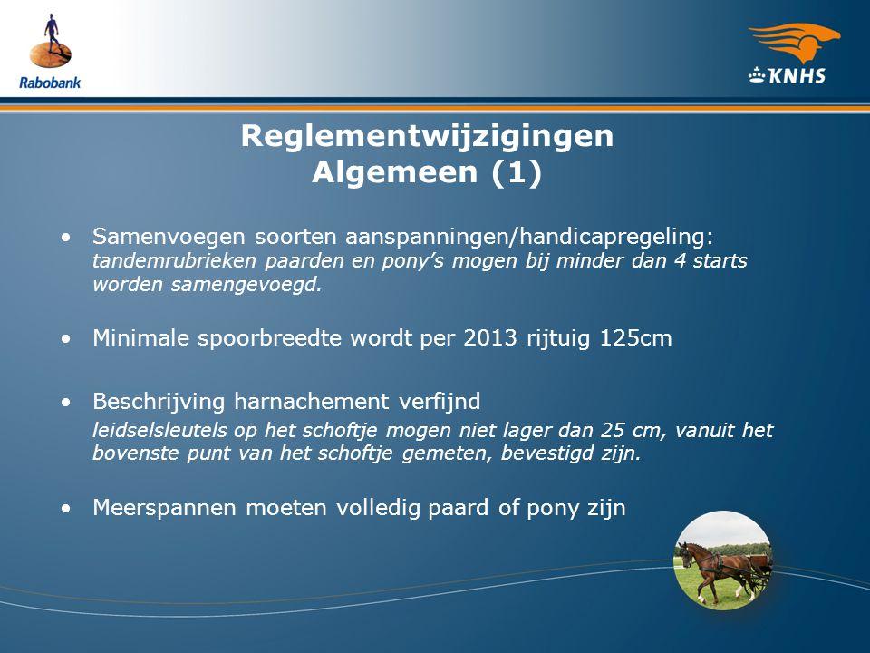 Reglementwijzigingen Algemeen (1)