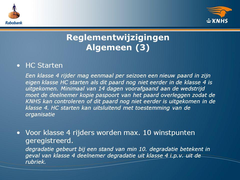Reglementwijzigingen Algemeen (3)