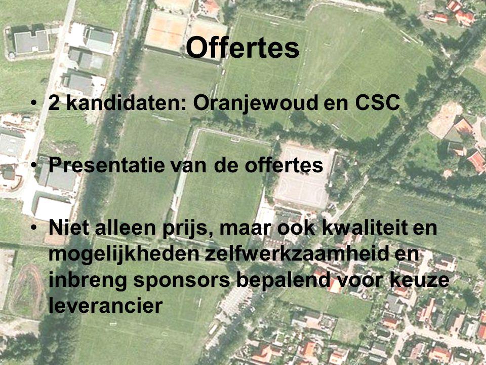 Offertes 2 kandidaten: Oranjewoud en CSC Presentatie van de offertes
