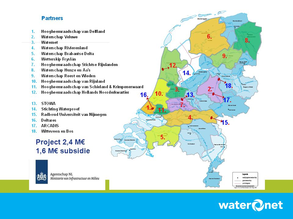Project 2,4 M€ 1,6 M€ subsidie